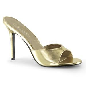 Arany 10 cm CLASSIQUE-01 alacsony sarkú női papucs