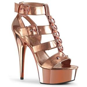 Arany Műbőr 15 cm DELIGHT-658 pleaser cipők a magassarkű