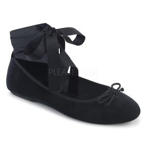 Bársony DEMONIA DRAC-03 Balerina lapos sarkú női cipők