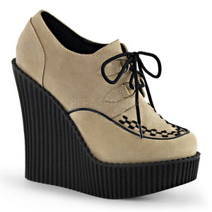 Bézs Műbőr CREEPER-302 creepers éktalpú cipők