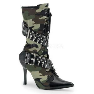 Camouflage 9,5 cm MILITANT-128 Női Bokacsizma Magassarkú