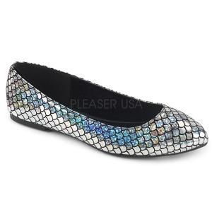 Ezüst MERMAID-21 Balerina lapos sarkú női cipők