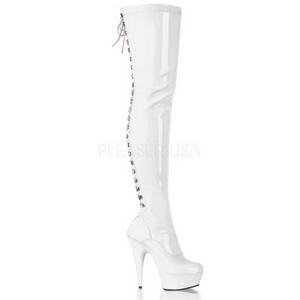 Fehér Fenyes 15,5 cm DELIGHT-3063 Platform Magassarkú Combcsizma
