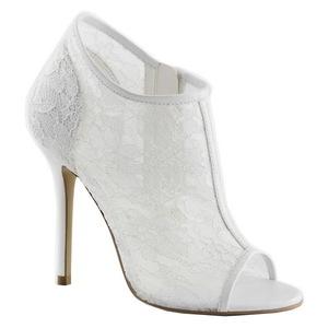 Fehér Szövet 13 cm AMUSE-56 Körömcipők magas cipők
