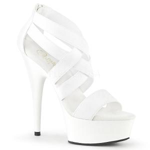 Fehér rugalmas szalag 15 cm DELIGHT-669 pleaser cipők magassarkú