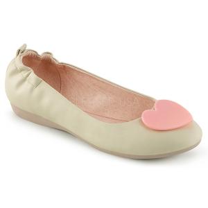 Krem OLIVE-05 Balerina lapos sarkú női cipők