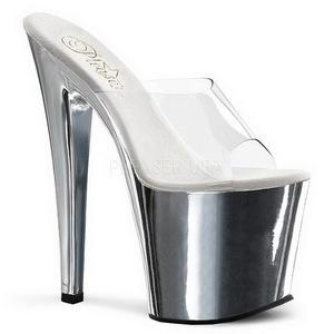Króm Átlátszó 19 cm TABOO-701 Plateau Papucs Női Cipők