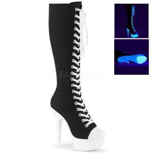 Neon 15 cm DELIGHT-2000SK vászon csizma magassarkú tornacipő