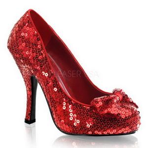 Piros Flitterekkel 11,5 cm OZ-06 Körömcipők magas cipők