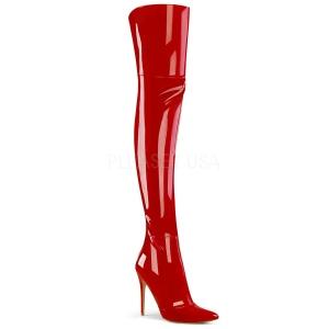 Piros Lakkbőr 13 cm COURTLY-3012 Pleaser Combcsizma