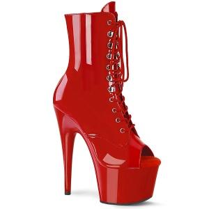 Piros Lakkbőr 18 cm ADORE-1021 női platform bokacsizma