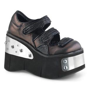Vegan 11,5 cm Demonia KERA-13 Platform Gótikus Cipők