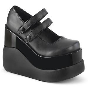 Vegan 13 cm VOID-37 alternatív cipők platformos fekete