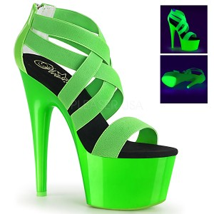 Zöld neon 18 cm Pleaser ADORE-769UV rúdtánc magassarkú cipő