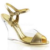Arany 10,5 cm LOVELY-442 Női Éksarkú Szandál
