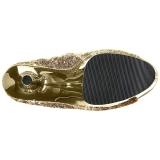 Arany 18 cm ADORE-1008SQ női flitterekkel bokacsizma a magassarkű