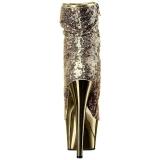 Arany 18 cm ADORE-1008SQ női flitterekkel magassarkű bokacsizma