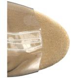 Arany 18 cm ADORE-1017RSFT női rojtos bokacsizma a magassarkű