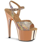 Arany 18 cm ADORE-709HM Glitter platform cipők a magassarkű