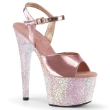Arany 18 cm ADORE-709LG Glitter platform cipők a magassarkű