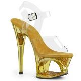 Arany 18 cm MOON-708GFT csillámos platform szandal női