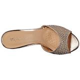 Arany 8,5 cm LUCY-01 csillámos alacsony sarkú női papucs