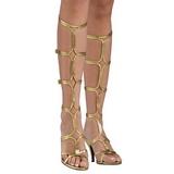Arany 8 cm ROMAN-10 terdig erő gladiátor szandál női