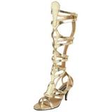 Arany 9 cm GODDESS-12 terdig erő gladiátor szandál női