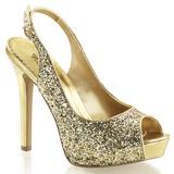 Arany Csillámos 12 cm LUMINA-28G Körömcipők magas cipők