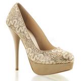 Arany Csillámos 13,5 cm GORGEOUS-20GL Körömcipők magas cipők