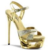 Arany Csillámos 16,5 cm Pleaser ECLIPSE-619G Platform Tűsarkú Cipők