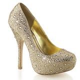 Arany Csillogó Kövekkel 13,5 cm FELICITY-20 női cipők a magassarkű