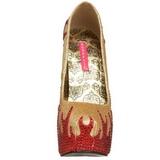 Arany Csillogó Kövekkel 14,5 cm TEEZE-27 női cipők a magassarkű