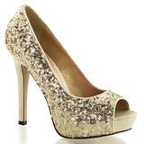 Arany Flitterekkel 12 cm LUMINA-27SQ Körömcipők magas cipők