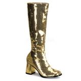 Arany Flitterekkel 8 cm SPECTACUL-300SQ Női Csizma