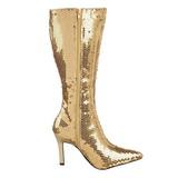 Arany Flitterekkel 9,5 cm FUNTASMA LUST-2001SQ Női Csizma