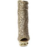 Arany Flitterekkel Bokacsizma női 15,5 cm BLONDIE-R-1008