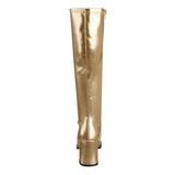 Arany Matt 8,5 cm GOGO-300 Női Csizma a Férfi