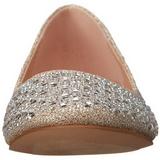 Arany TREAT-06 Strasszköves Lapos Balerina Cipők Női
