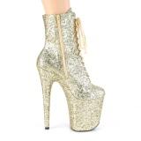 Arany glitter 20 cm FLAMINGO-1020GWR rúdtánc cipő - platform bokacsizma