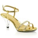 Arany strass kö 8 cm BELLE-316 transzvesztita magassarkű cipő