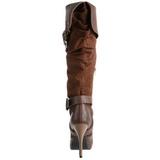 Barna 11,5 cm CARRIBEAN-216 női csatos csizma a magassarkű