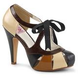 Barna 11,5 cm retro vintage BETTIE-19 női cipők a magassarkű