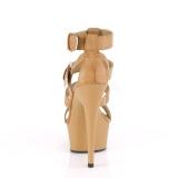 Barna Műbőr 15 cm DELIGHT-658 pleaser cipők a magassarkű