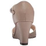 Barna Műbőr 7,5 cm KIMBERLY-05 nagy méretek szandál női