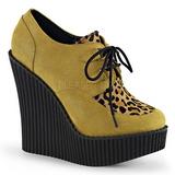 Barna Műbőr CREEPER-304 creepers éktalpú cipők