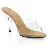 Barna Átlátszó 11 cm CARESS-401 Plateau Papucs Női Cipők