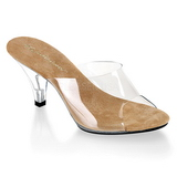 Barna Átlátszó 8 cm BELLE-301 Papucs Női Cipők