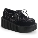 Bársony 7,5 cm CREEPER-219 Platform Creepers Cipő
