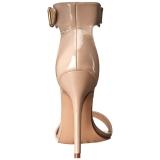 Bézs 13 cm Pleaser AMUSE-10 női magassarkú szandál